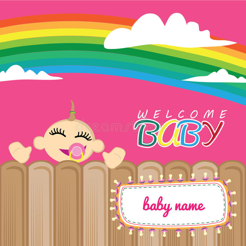 Welcome baby greeting card stock illustration illustration of download welcome baby greeting card stock illustration illustration of decorative 59114232 m4hsunfo