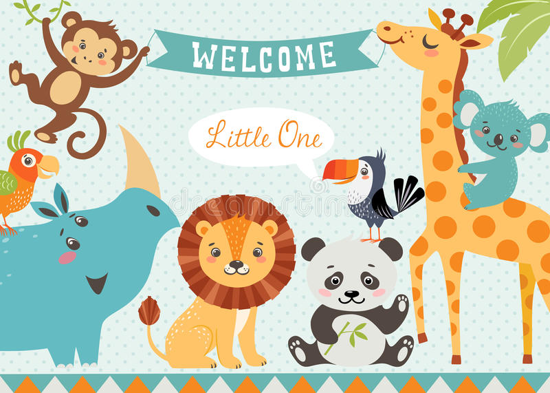 Welcome baby royalty free illustration