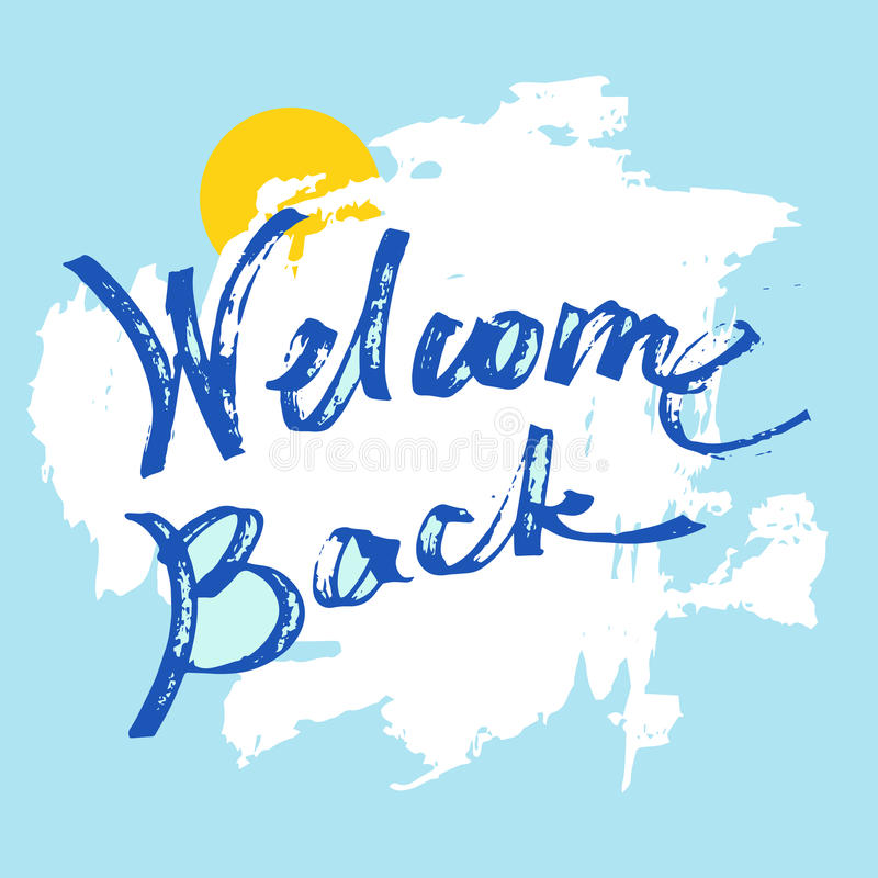 Welcome back greeting card stock vector illustration of greeting download welcome back greeting card stock vector illustration of greeting blackboard 73942597 m4hsunfo