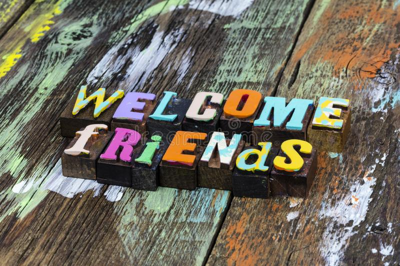 Welcome back home family friends greeting love kindness royalty free stock photos