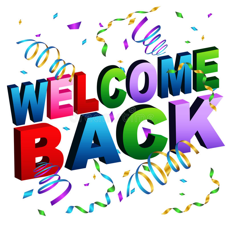 Welcome back message stock vector illustration of reunion for Back to home pics