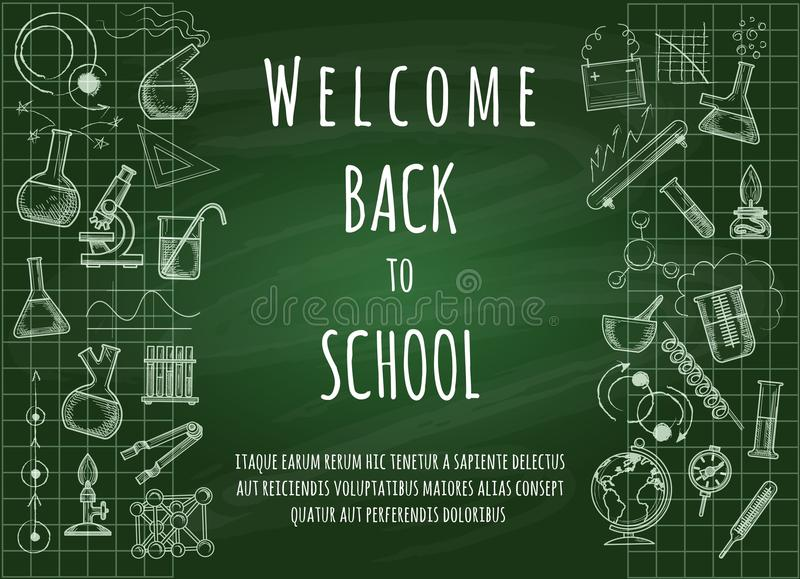 Welcome back to school background royalty free illustration
