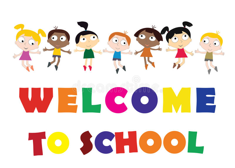 Welcome Back To School Concept With Childrens, Chalkboard And Co Stock  Vector - Illustration of lettering, education: 88291062