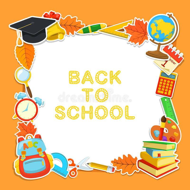Classroom Welcome Design ~ Welcome back to school stock vector illustration of