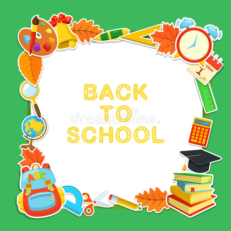 Welcome back to school stock vector. Illustration of learn ...