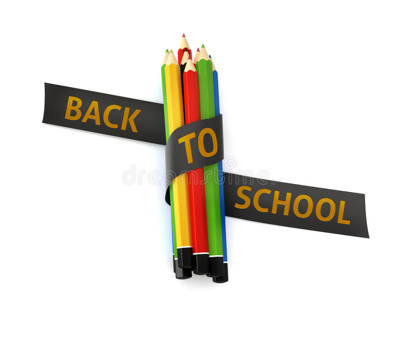 Download Welcome Back To School Embroidered Golden Thread On Black Ribbon  Stock Illustration   Illustration Of