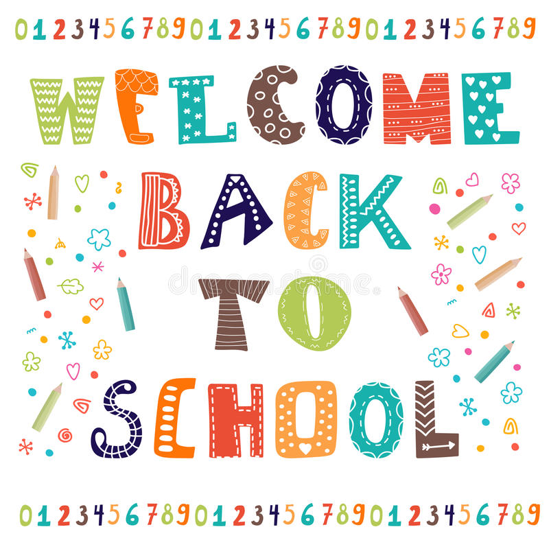 Marvelous Welcome Back To School Greeting Card Back To School Design Stock Funny Birthday Cards Online Fluifree Goldxyz