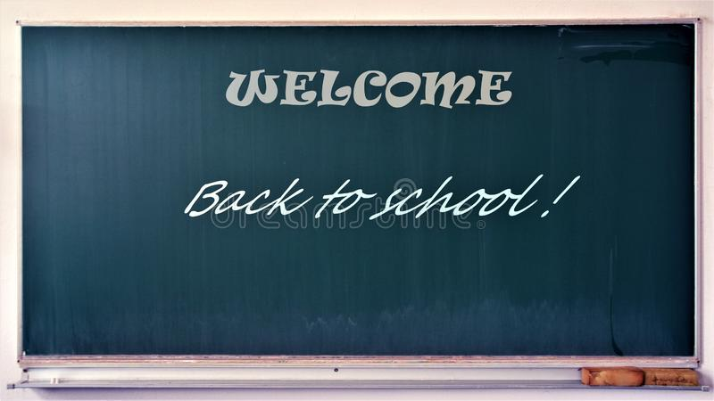 Welcome back to school stock photo