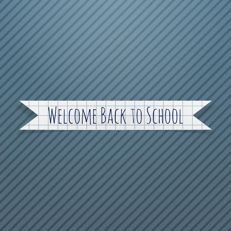 Welcome Back to School paper Badge vector illustration