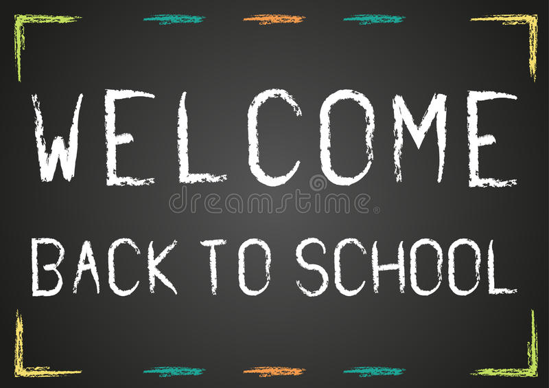 Welcome back to school poster stock illustration