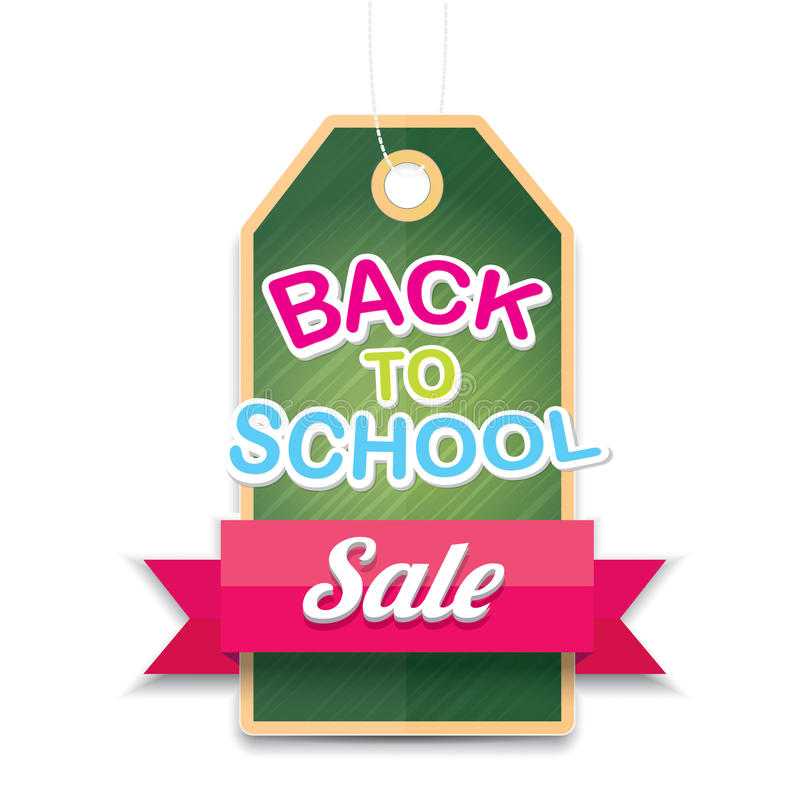 Welcome back to school sale vector sticker stock illustration