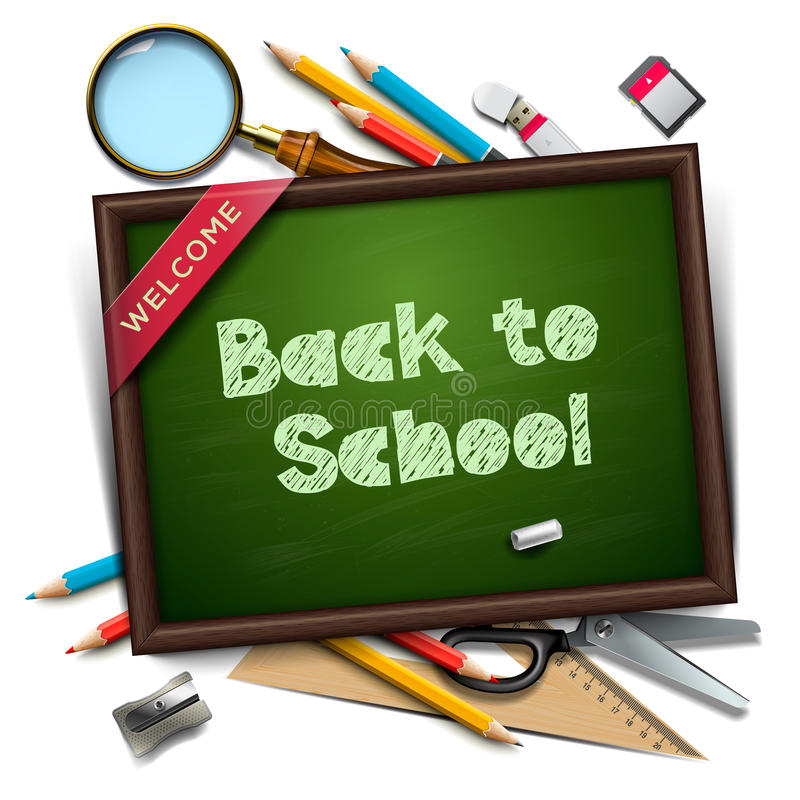 Welcome back to school template vector illustration