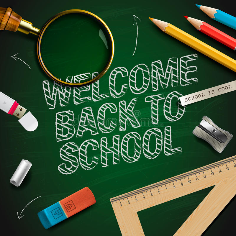 Welcome back to school royalty free illustration