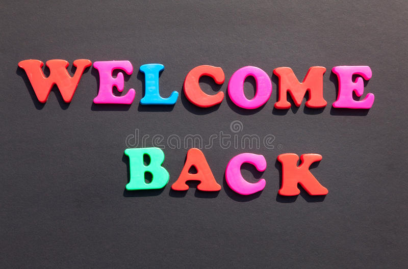 Welcome Back Stock Images Image 33033894