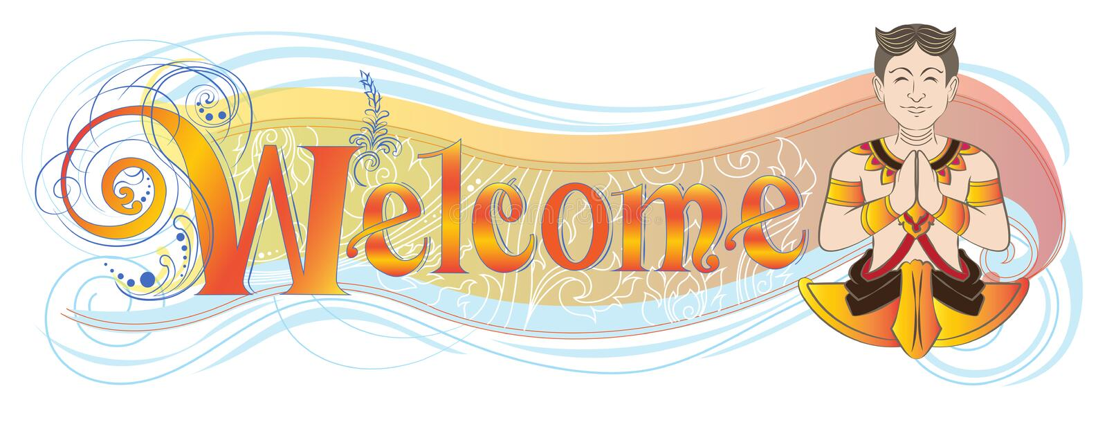 Welcome Banner Or Shop Sign Has Asian Hello Acting Symbol Meanin