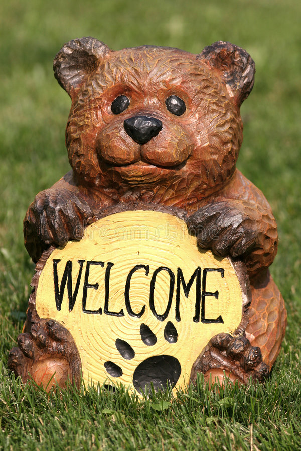 Welcome Bear stock photo