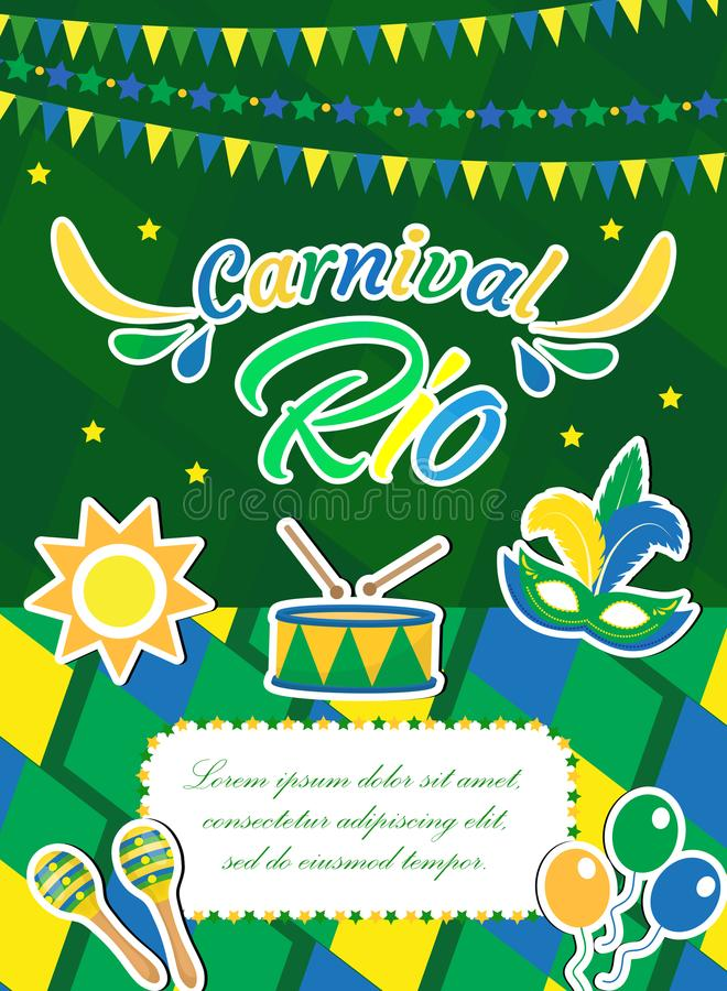 welcome brazil carnival poster invitation flyer templates for