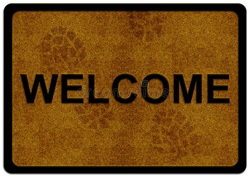 Download Welcome Cleaning Foot Carpet Stock Illustration - Illustration: 21550215