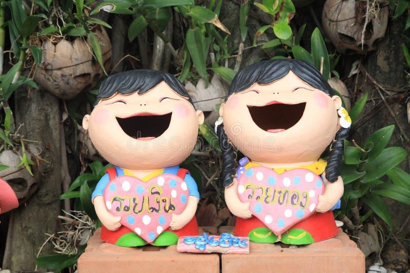 Welcome dolls stock photos