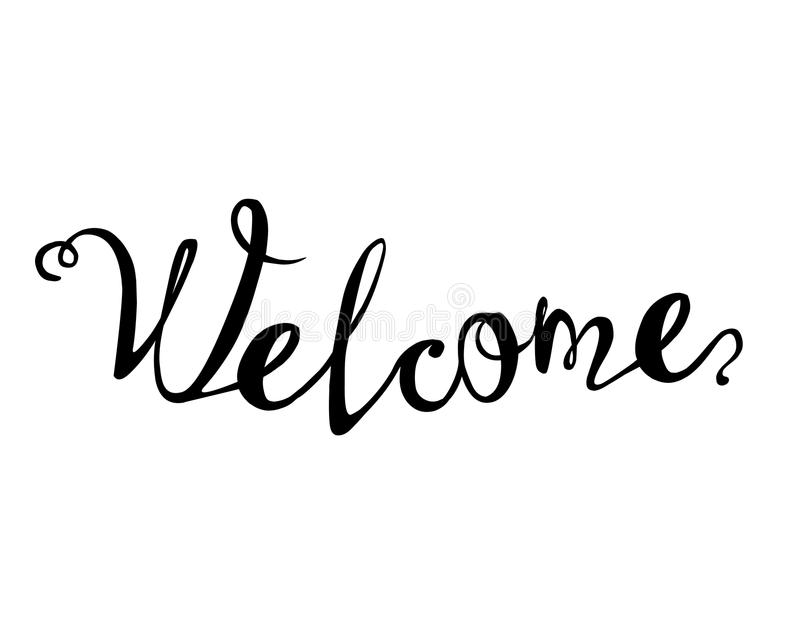 Welcome written background stock illustration