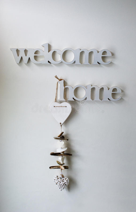 Welcome home stock photography