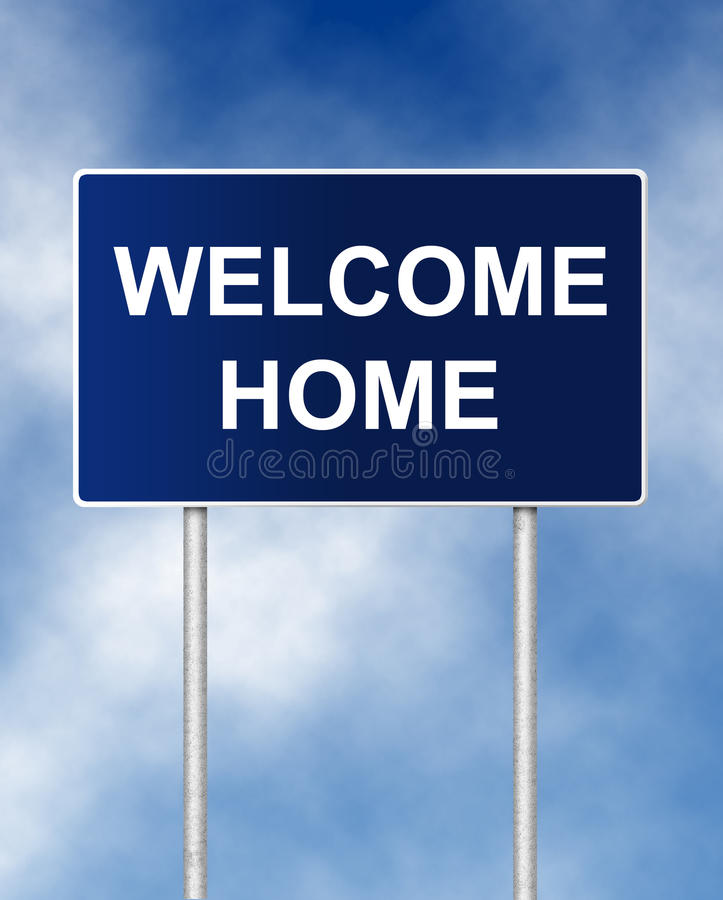 Welcome Home Stock Photo Image Of Blue Poster Customer 59670754