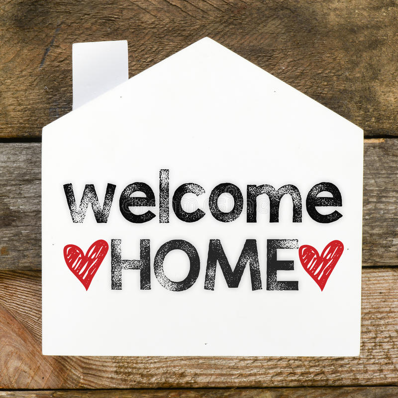 Welcome Home sign stock image. Image of aged, poster - 47983135