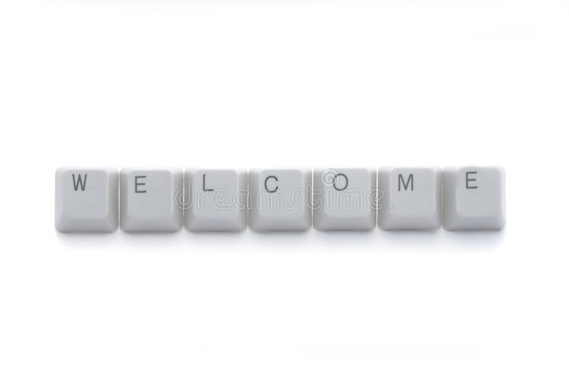 WELCOME keyboard buttons stock photography