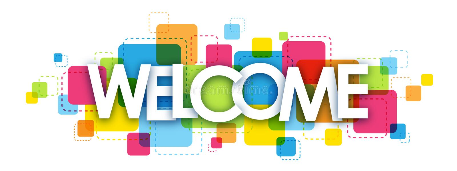 WELCOME letters banner royalty free stock images