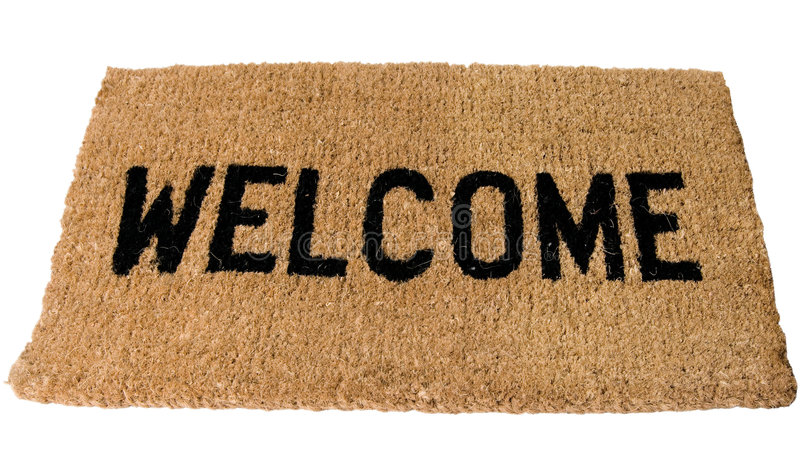 Download Welcome Mat stock photo. Image of sign, isolated, background - 6778130