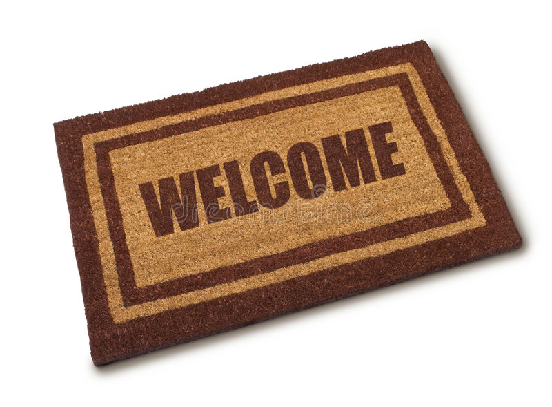 Download Welcome Mat stock photo. Image of wellcome, inviting, floor - 8132064