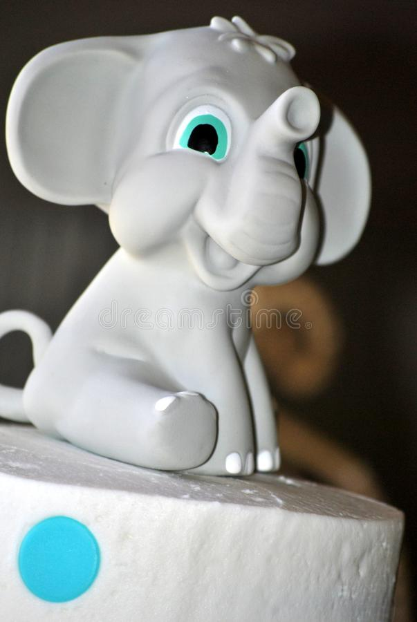 Welcome New Baby Boy Shower Elephant Cake Stock Image