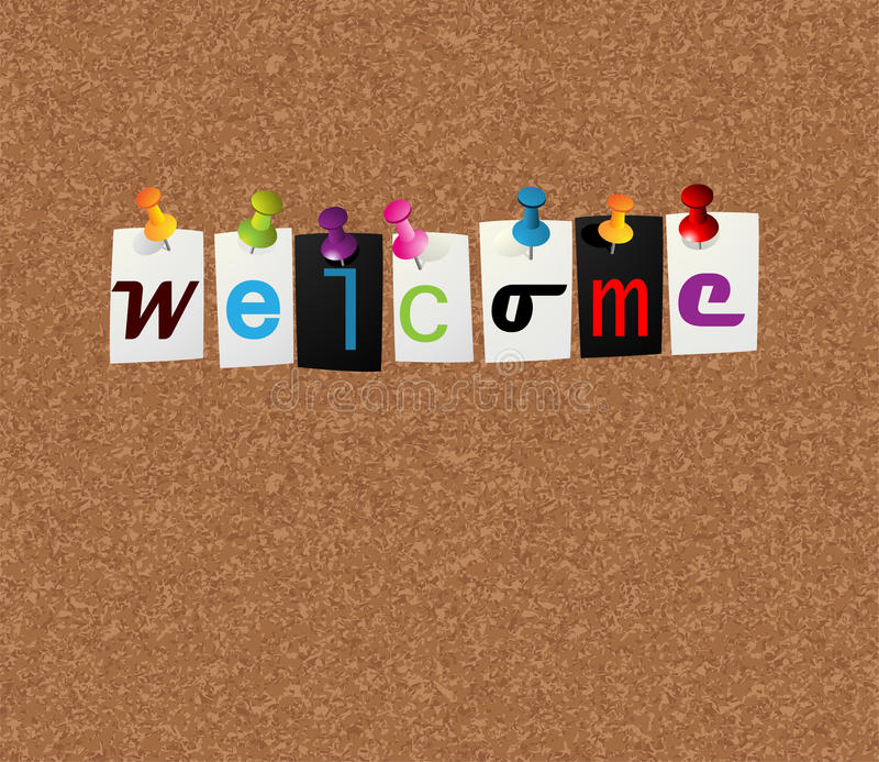 Welcome notice concept stock illustration