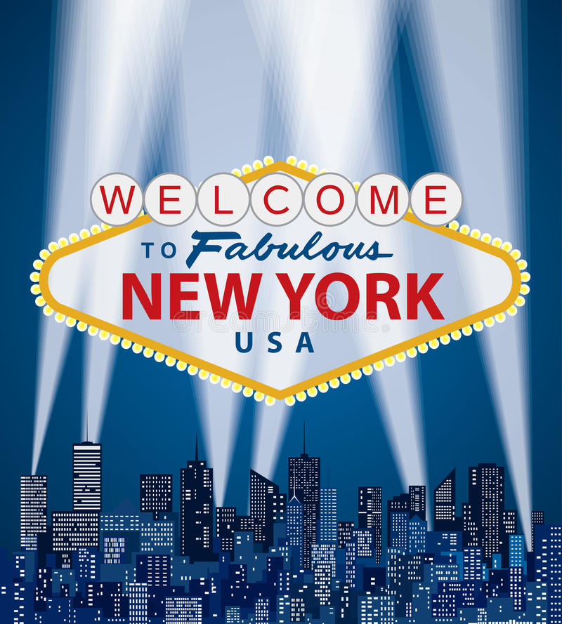 Welcome NY royalty free illustration
