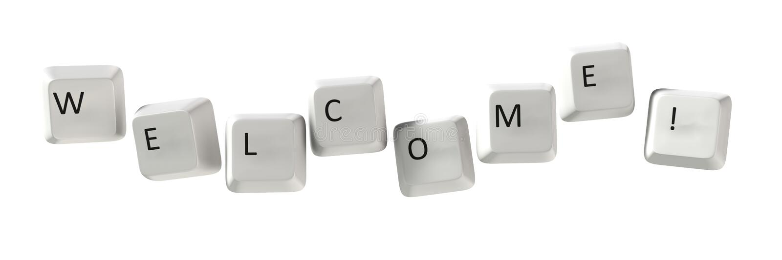 Download Welcome Qwerty stock illustration. Illustration of computer - 12766928