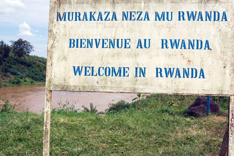 Welcome in Rwanda stock photo
