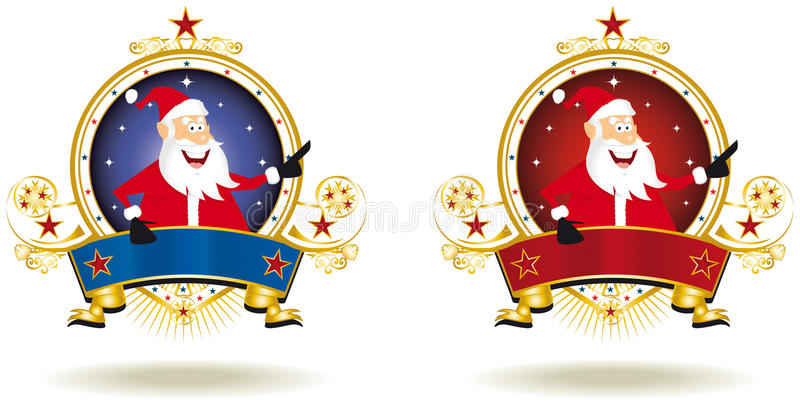 welcome Santa Claus stock images