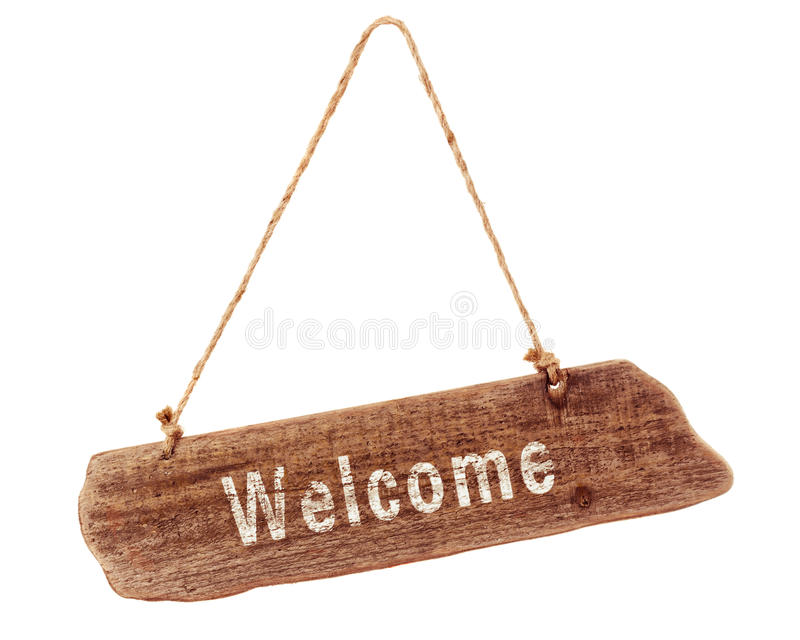 Download Welcome Sign stock photo. Image of wood, grunge, vintage - 21837720