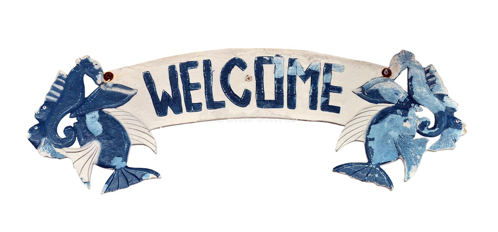 Download Welcome Sign stock image. Image of grunge, fish, ocean - 25579277