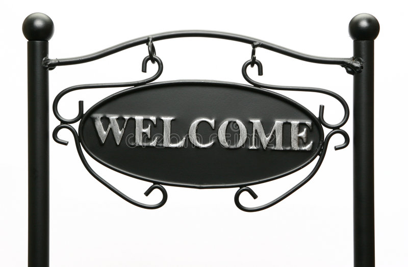 Download Welcome Sign stock image. Image of isolated, elegant, greeting - 4529771