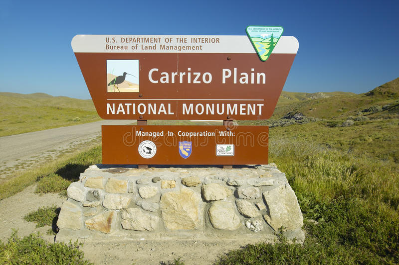 Download Welcome Sign To Carrizo National Monument, The US Department Of  Interior, In Southern