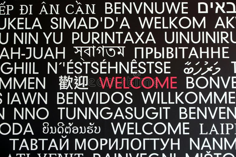Welcome sign royalty free stock image