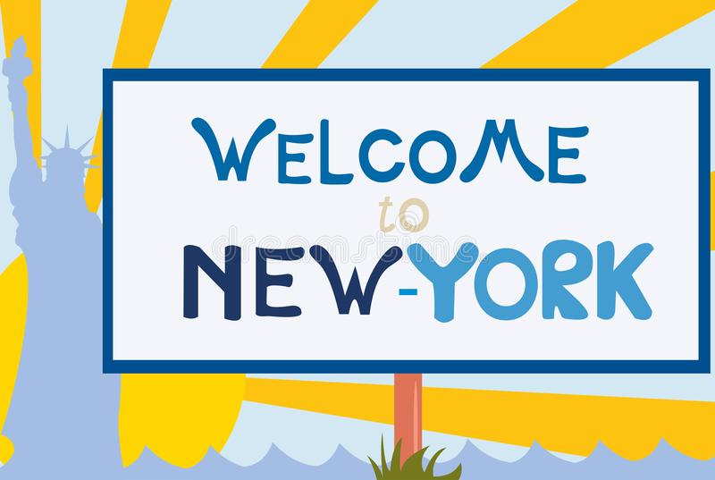 welcome signboard to New-York royalty free illustration