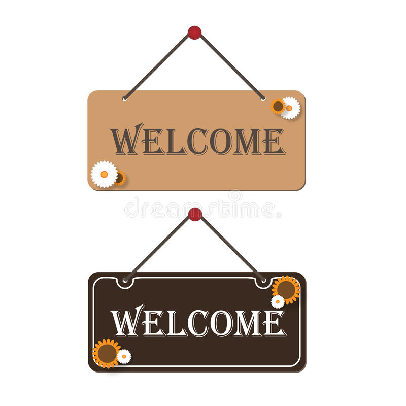 Download Welcome signs stock vector. Illustration of style, board - 13300379
