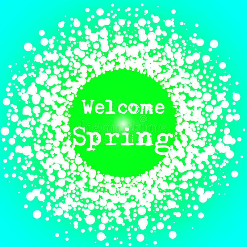 Download Welcome Spring Lettering Typography Card Stock Illustration - Image: 97728320