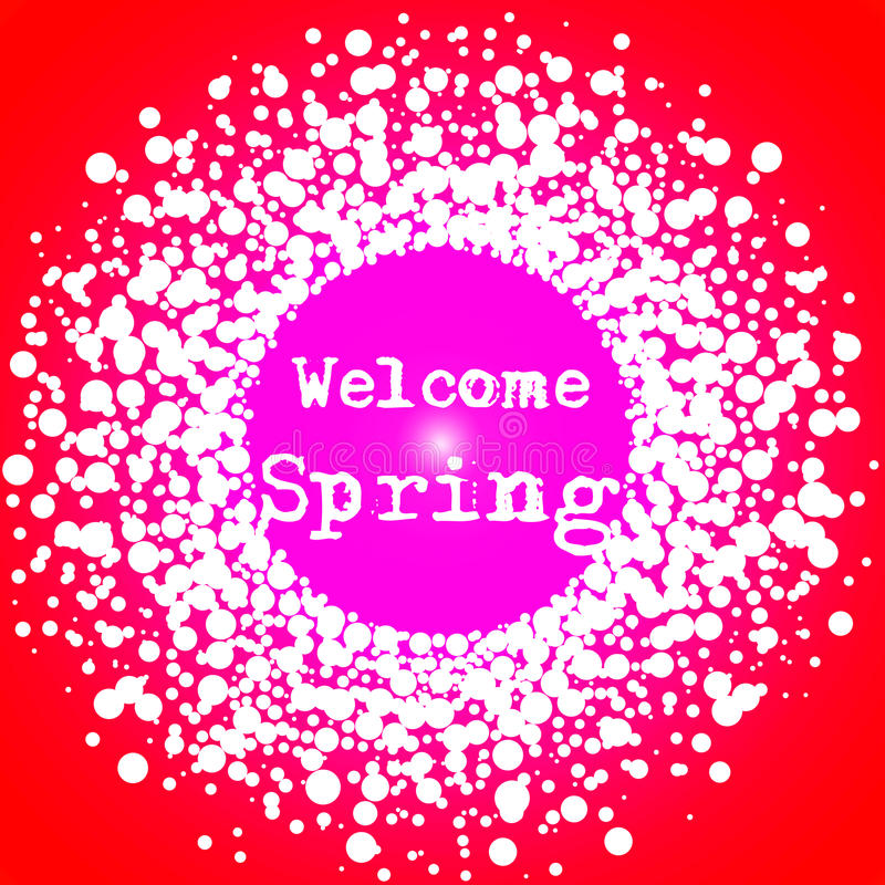 Welcome Spring Typography Sign stock images