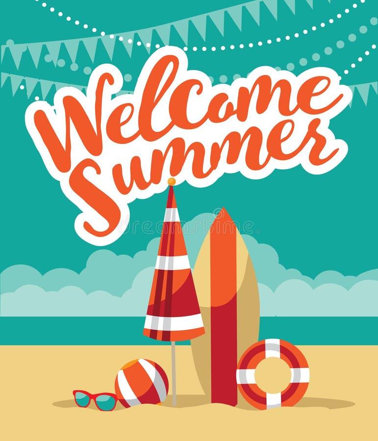 Free Welcome Summer Fun Flat Design. Stock Photos - 71124153