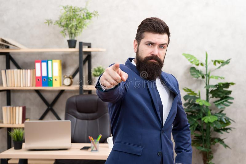 Welcome team member. Recruiter professional occupation. HR manager. Man bearded manager recruiter in office. Recruiter. Career. Human resources. Hiring concept stock image