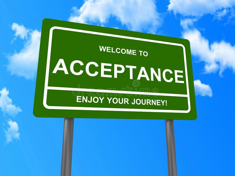 Download Welcome to acceptance sign stock illustration. Illustration of angle - 29027897