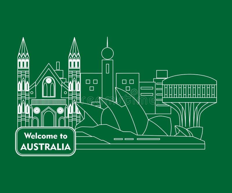 Welcome to australia stock illustration